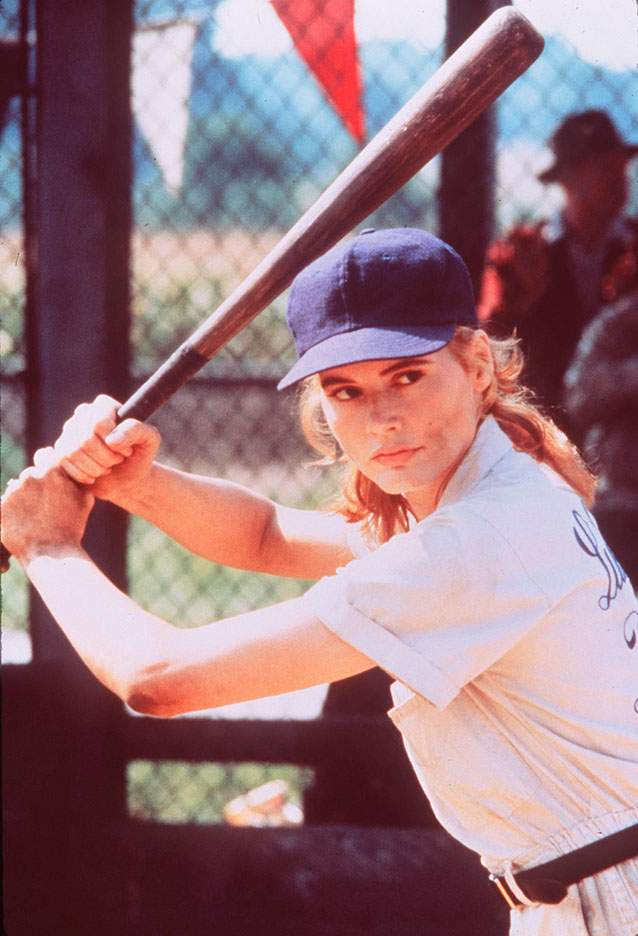 Geena Davies bats in A League Of Their Own