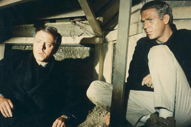 Richard Attenborough and Steve McQueen in The Great Escape